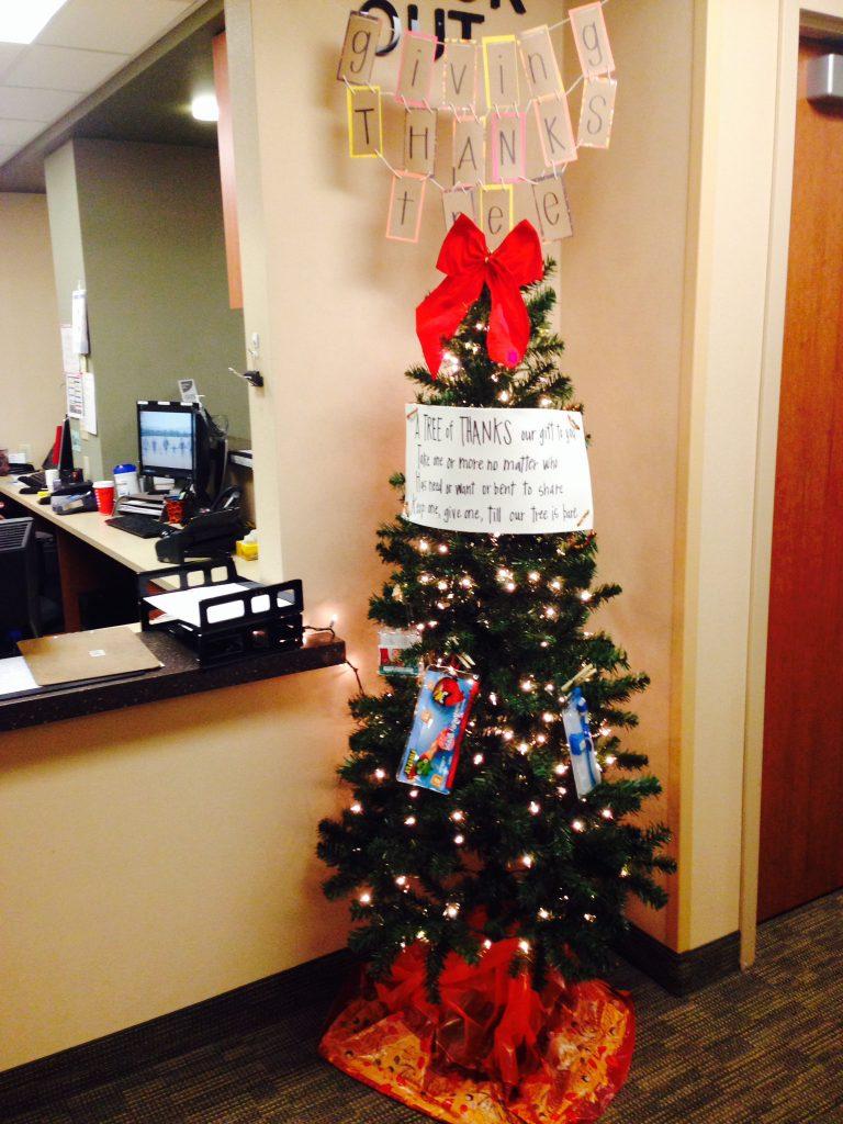 giving tree at Christmas