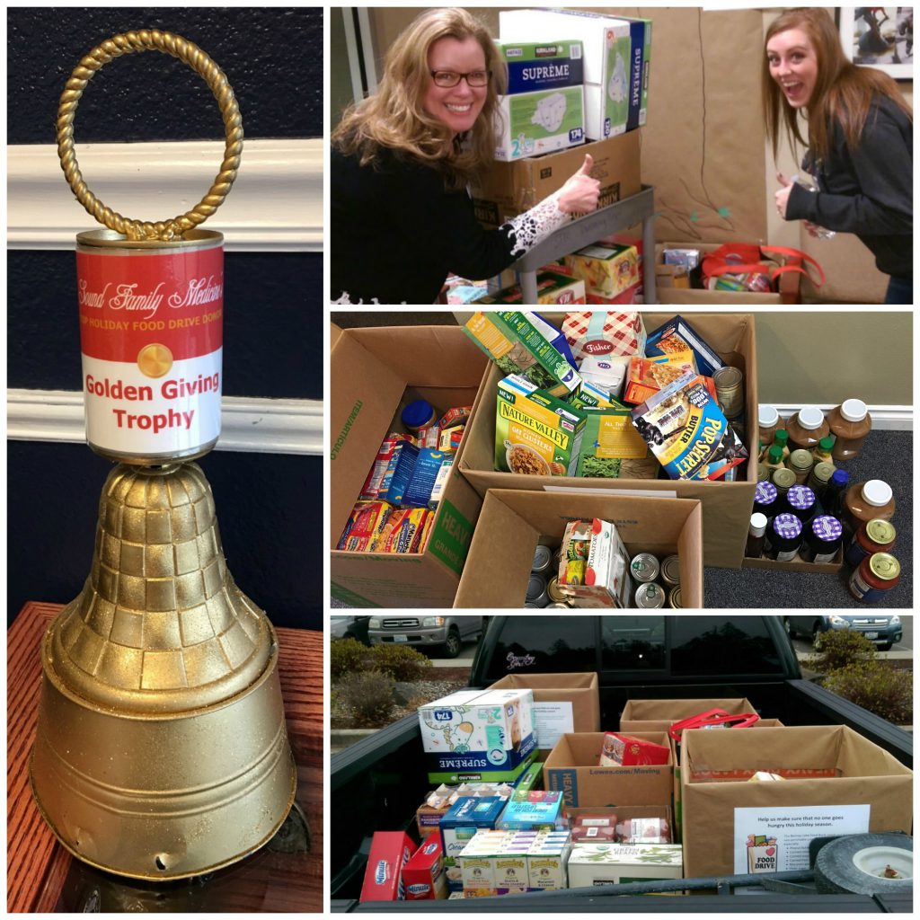 food drive donations in Puyallup and Bonney Lake