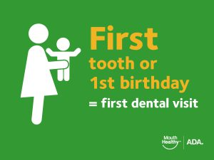 baby's first dentist visit infographic