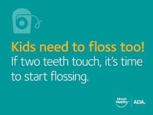 kid's flossing tip