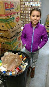 volunteering at the Bonney Lake food bank