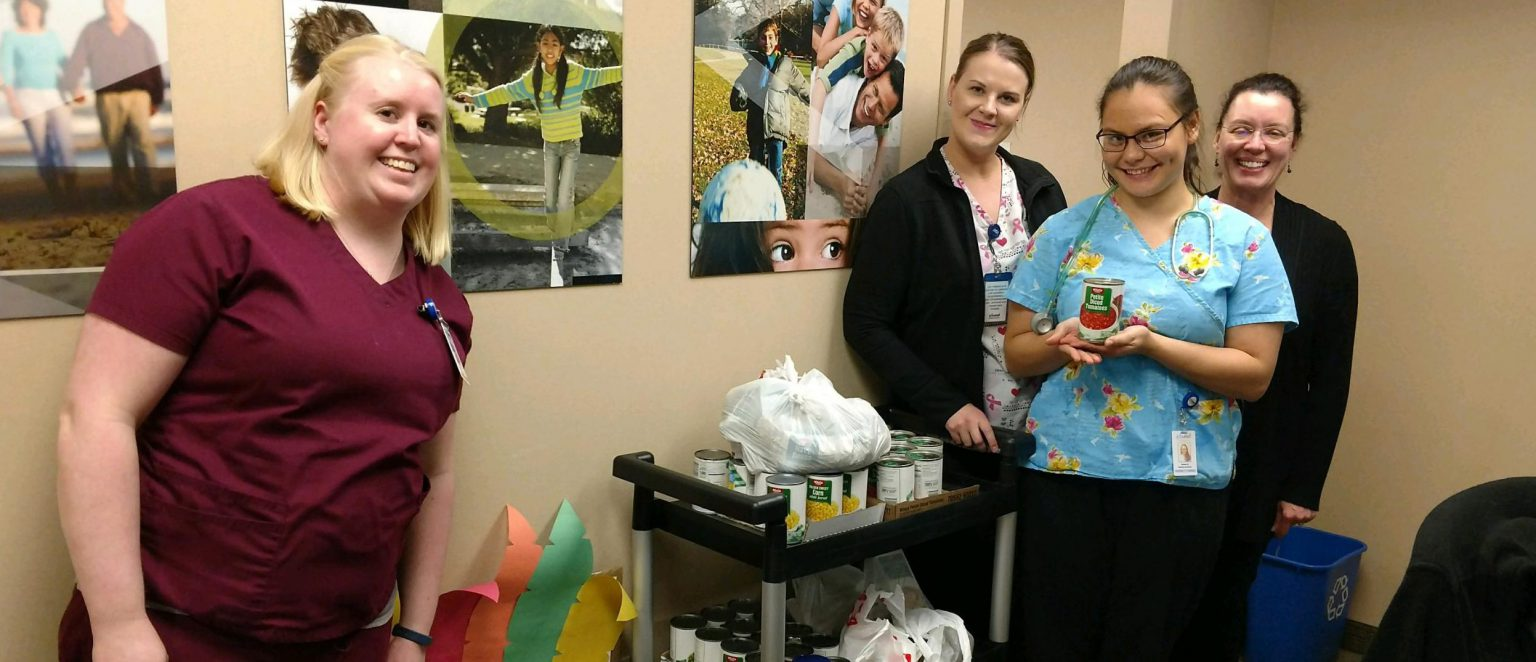 Bonney Lake walk-in clinic collects food donations for local food bank