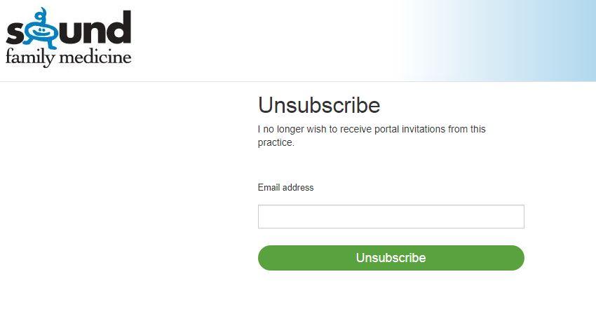 a screenshot of mySFM Patient Portal