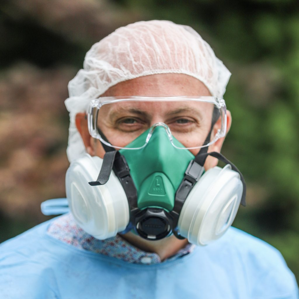 Kevin Taggart, MD in PPE