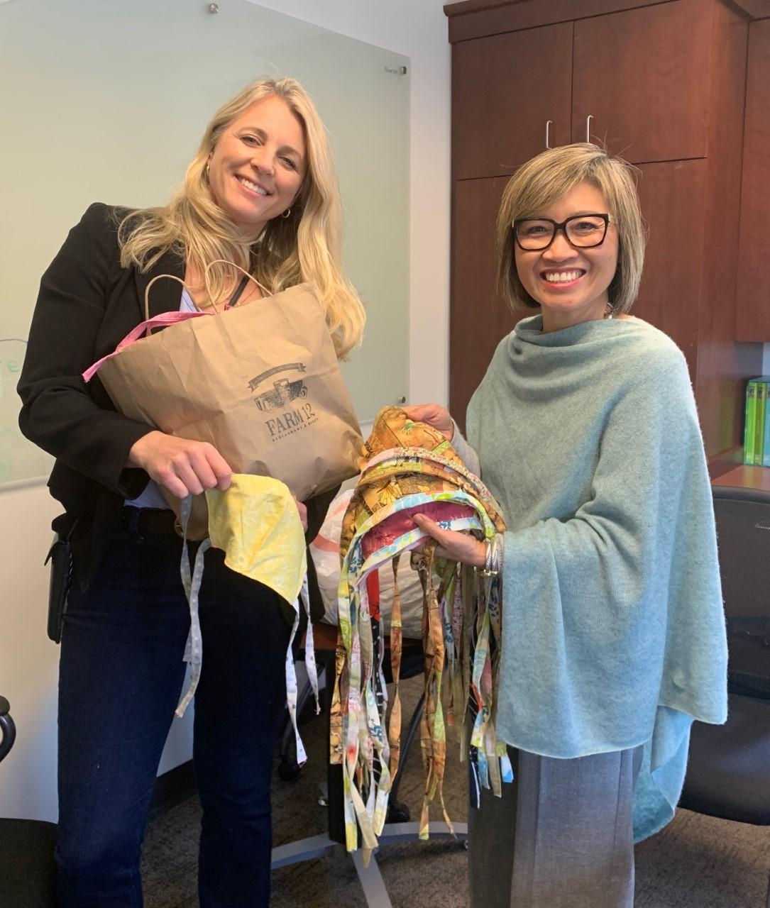 Krista Linden donates 100s of mask to Sound Family Medicine