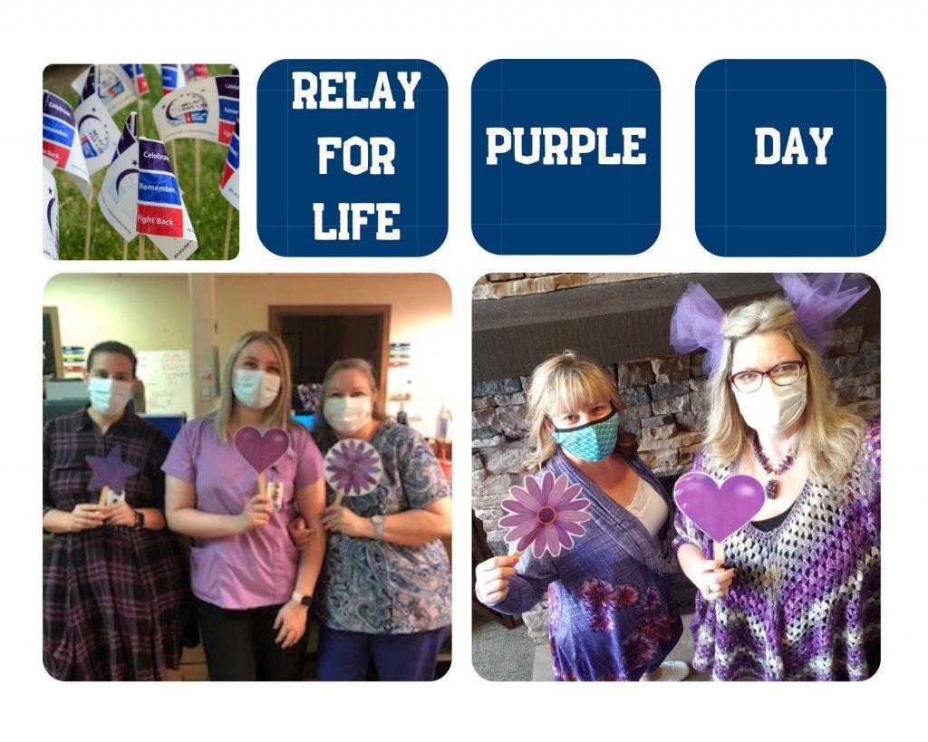 Photo of our purple team spirit