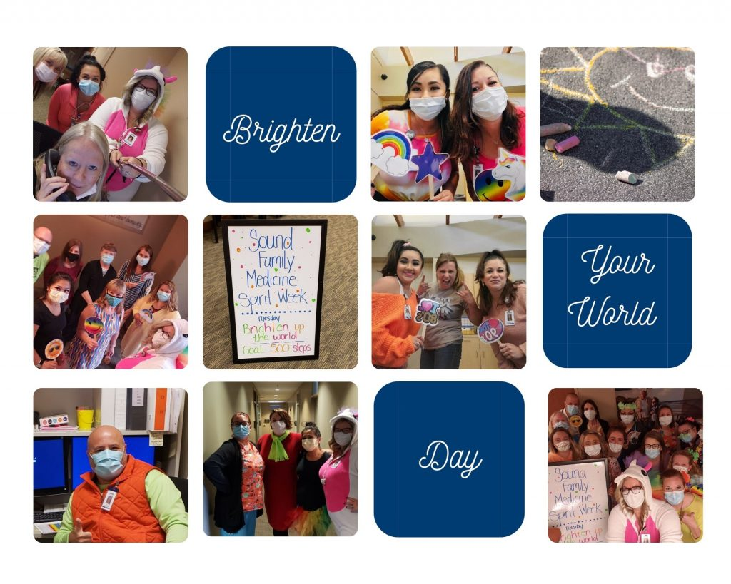 Photo collage of our Brighten Your World day.