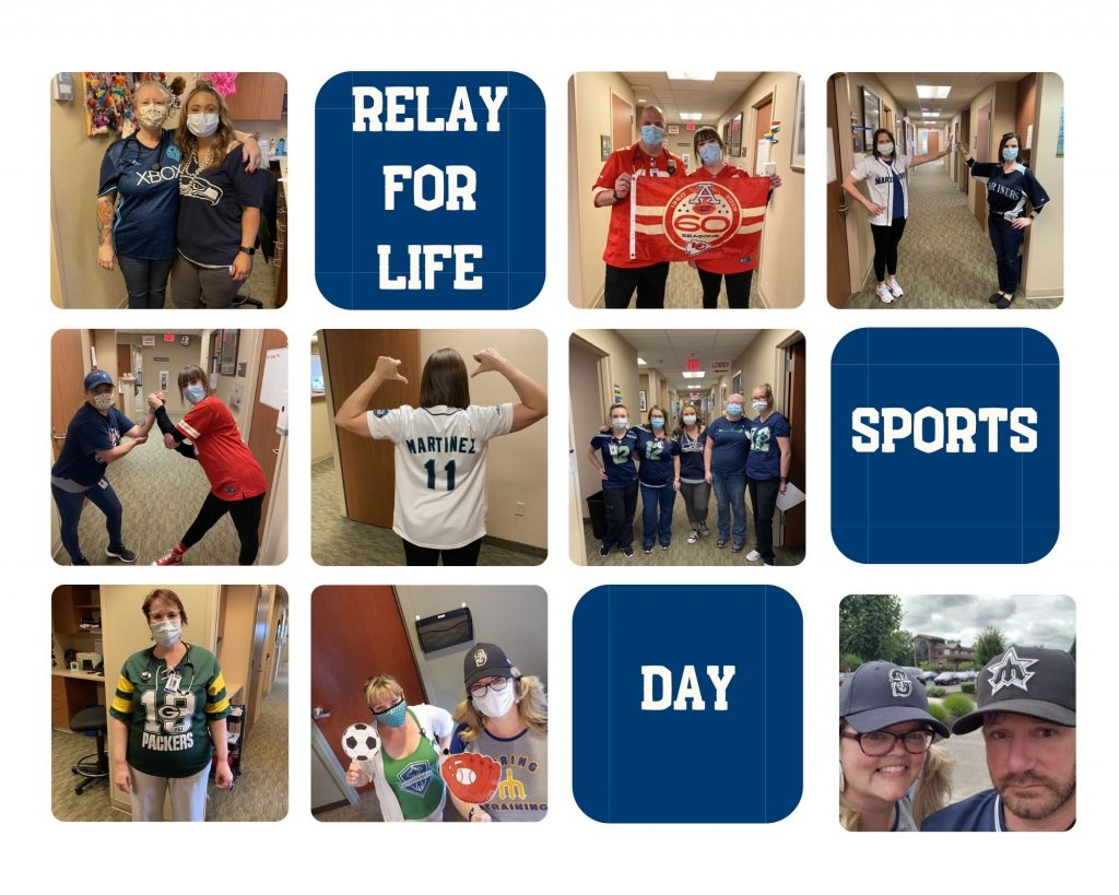 Photo collage of our sports day outfits